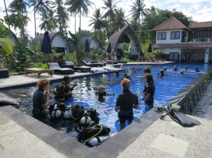 PADI Open water Course at IDC dive resort Oceans 5 dive Gili Air Indonesia