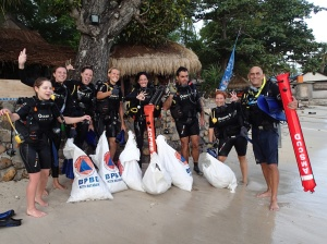 Dive against Debris Distinctive Specialty at dive resort Oceans 5 Gili Islands Indonesia